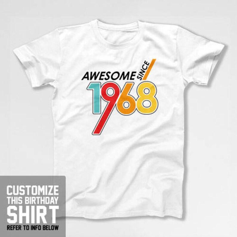 50th Birthday Shirt Custom Year Bday T Dad