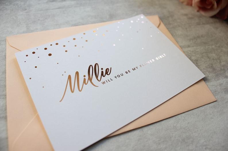 Maid of Honour Card Chief Bridesmaid Card Gold Bridesmaid Proposal Postcard- Will You Be My Bridesmaid Silver Rose Gold
