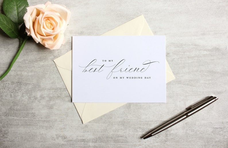 Wedding Card to Your Best Friend Wedding Day Card Printed Note Cards On The Day Card