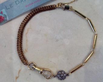 Vintage gold-plated bracelet