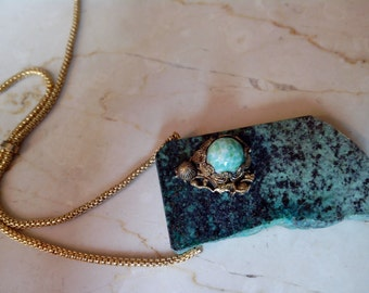 Vintage necklace with African Turquoise