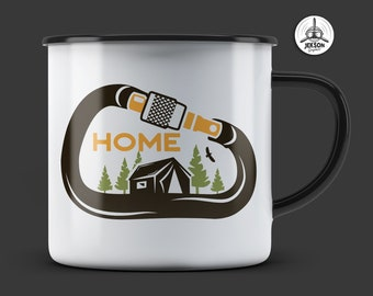 Camping SVG Cut File - Nature is Home Adventure Svg Climbing Carabiner Travel Digital Logo Wanderlust Cricut Cutting Outdoors svg Commercial