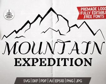 Summer Camp Svg Custom Logo Mountain Adventure Graphic Svg Etsy