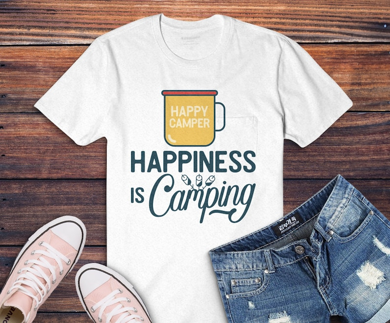 Happiness Is Camp Svg Cut File Outdoors Svg Hiking Travel Etsy