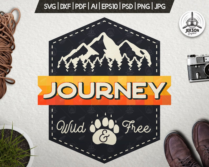 Journey Svg Patch Adventure Cut File Mountains Travel Etsy