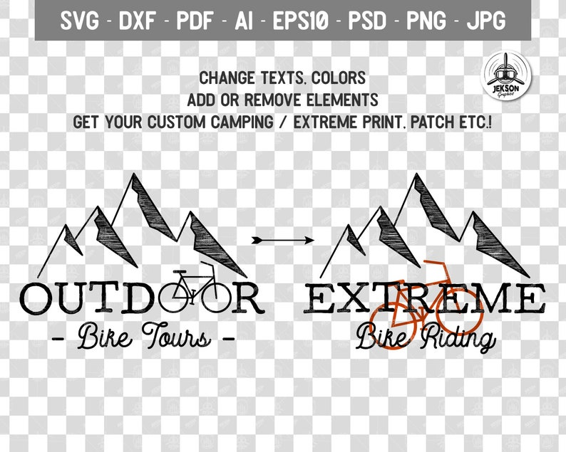 Bike Tours SVG Custom Logo Adventure Graphic SVG Camp Cutting Silhouette Small Business Download Outdoor svg Premade Watermark Commercial