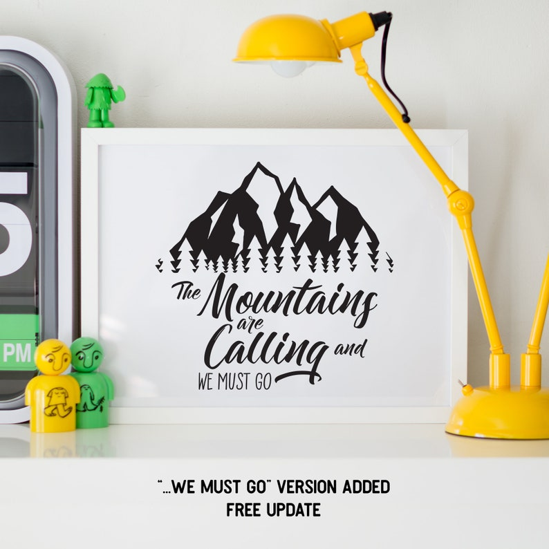 Mountains Calling Svg Print Cut File Adventure Awaits Travel Etsy