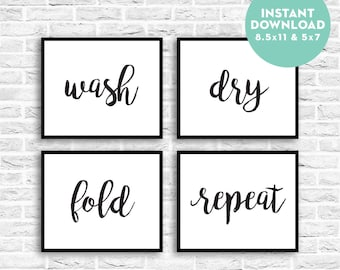 picture regarding Free Printable Laundry Room Signs known as Laundry printable Etsy