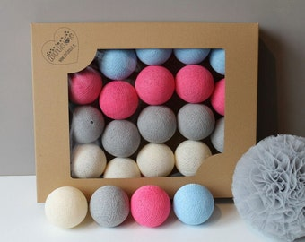 Cotton Balls Malinove 20 items