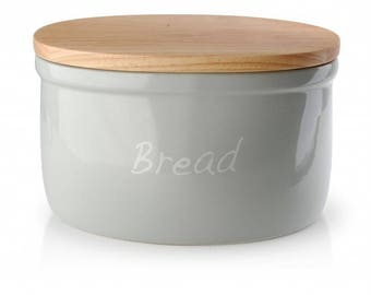 Ceramic bread box gray