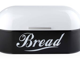 Bread Box metal Black&White