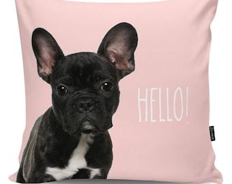 Decorative pillow Hello Frenchy