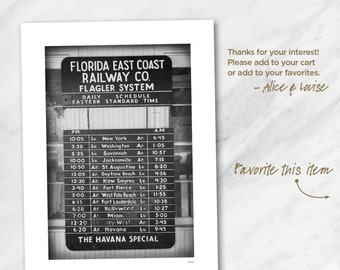 12x18 Florida East Coast RailWay Co. black and white fine art photograph matted to 18x24