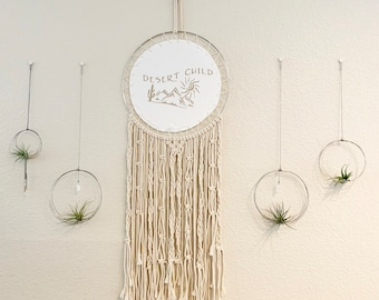 Boho Style Wall Decor With Desert Child Quote