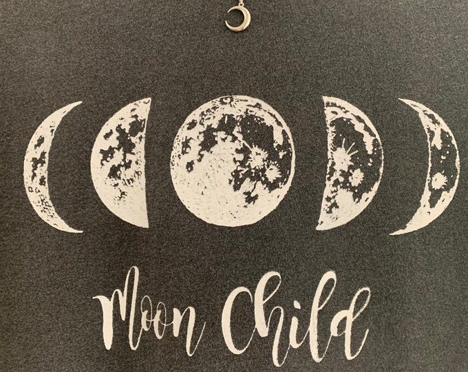 Moon Phase Moon Child Gray Boyfriend T-shirt