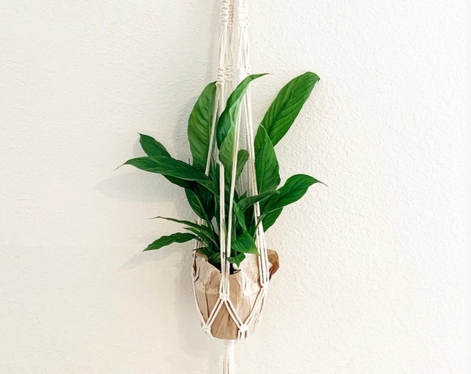Long Macrame Planter Hanger