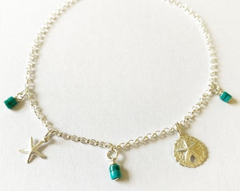 Sterling Silver Beach Anklet