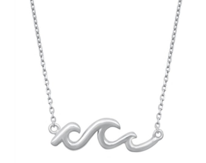 Sterling Silver Triple Wave Layering Necklace