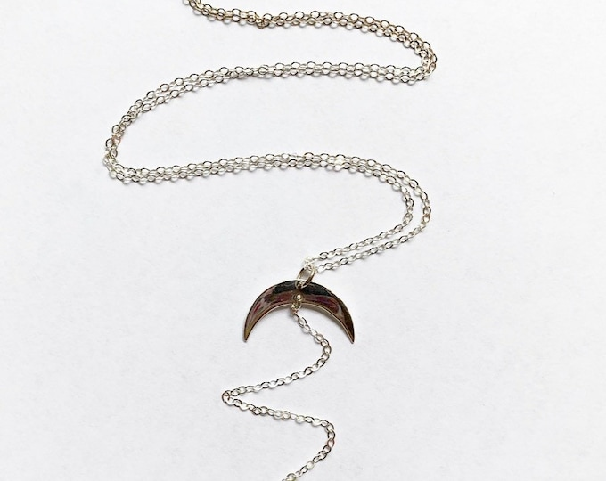 Sterling Silver Moon and Star Lariat Y Necklace