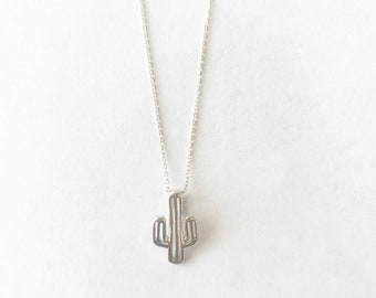 Sterling Silver Cactus Necklace