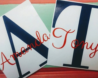 Initial Decal/Yeti Name Decal/Rtic Name Decal/Tumbler Name Decal/Big Initial Decal/One Letter Decal/Last Initial Name Decal/Window Decal