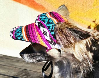 f82b4f8f Mexican Poncho Dog Hat, Dog Cap, Dog Baseball Hat, Dog Visor, Dog  accessories, Pet accessories, dog gift, dog photo prop, hat for dogs