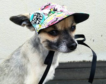 25fb7644 Bright Colourful Dog Hat, Dog Cap, Dog Baseball Hat, Dog Visor, Dog  accessories, Pet accessories, dog gift, dog photo prop, hat for dogs