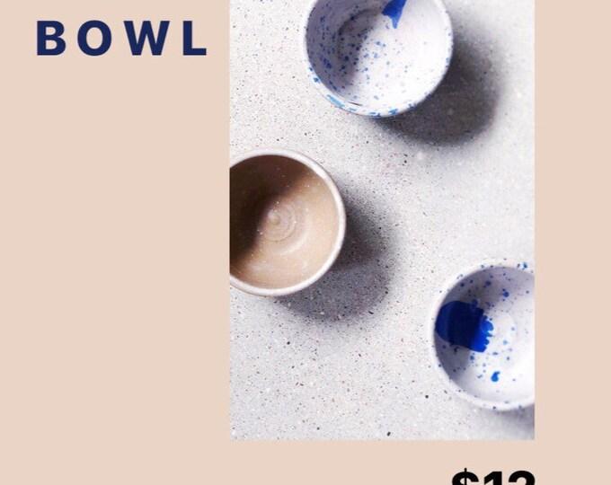 S A M P L E ᐤ Old Form Pinch Bowl