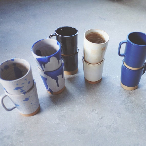 Paired Latte Mugs | 16oz