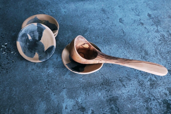 Brushed Blue Spoon Rest