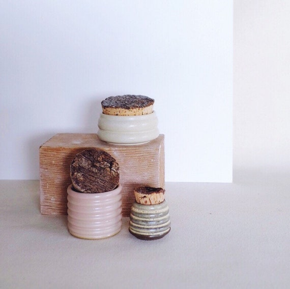 Bark Top Textured Jars