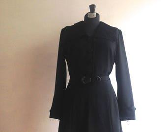 1950s dress - Vintage Betty Barclay dress - 1950s black dress - Betty  Barclay - 1950s dress 12575f98db
