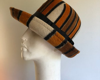 2dc338d4501 1970s Yves Saint Laurent hat - Vintage YSL hat - 1970s hat - Vintage fedora  hat - 1970s designer hat - Vintage hat