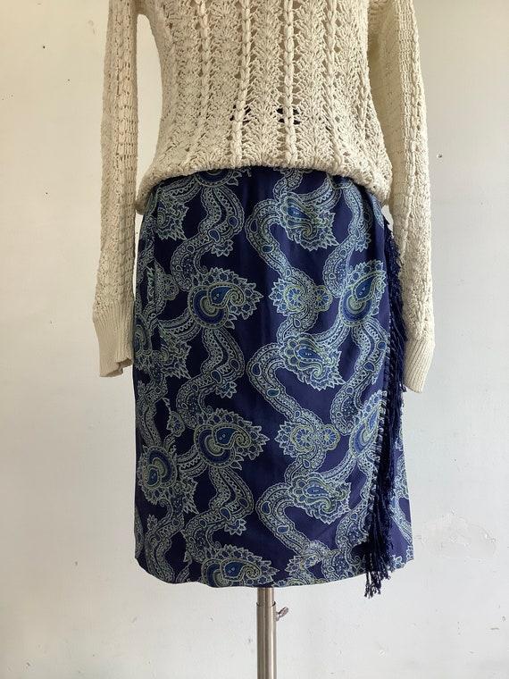 Vintage skirt - vintage wrap skirt - Et Vous skirt