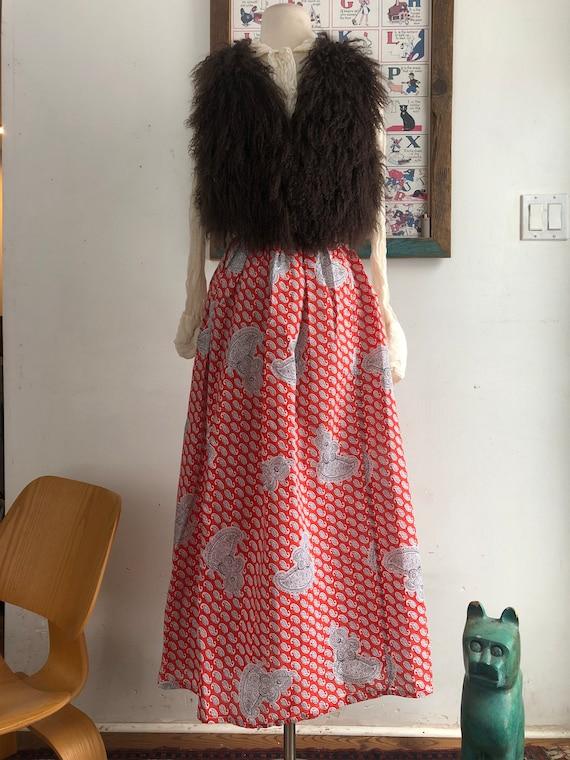 Vintage skirt - vintage 1970s paisley print skirt