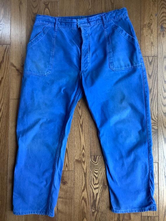 Vintage workwear pants - 1950s French workwear pan