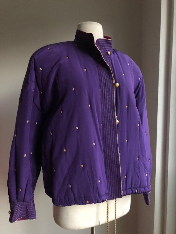 1980s bomber jacket - vintage bomber jacket - Elle