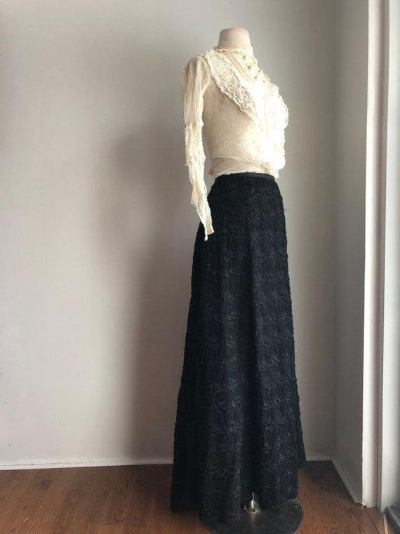 Victorian era winter skirt - antique winter skirt