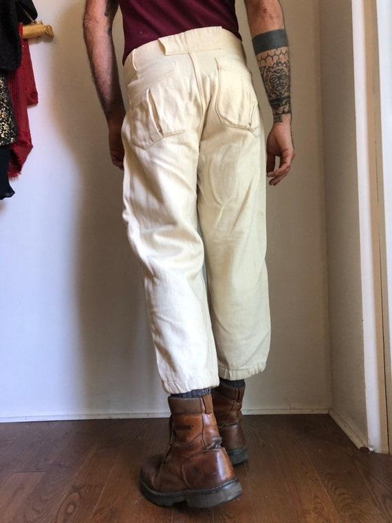 Vintage baseball pants - 1940s baseball pants - v… - image 4