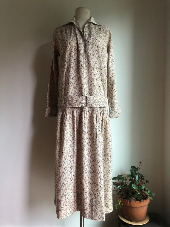 Antique summer dress - cotton summer dress - Edwar