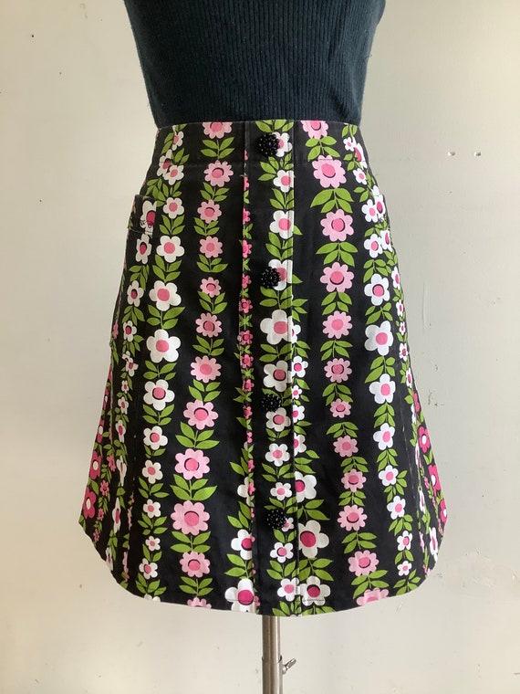 Vintage midi skirt - 1960s skirt - 1960s midi skir