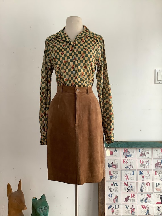 Vintage Ralph Lauren skirt - vintage leather skirt