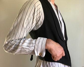 1930s vest - vintage men's vest - 1930s formal wear - 1930s tuxedo vest - vintage formal wear