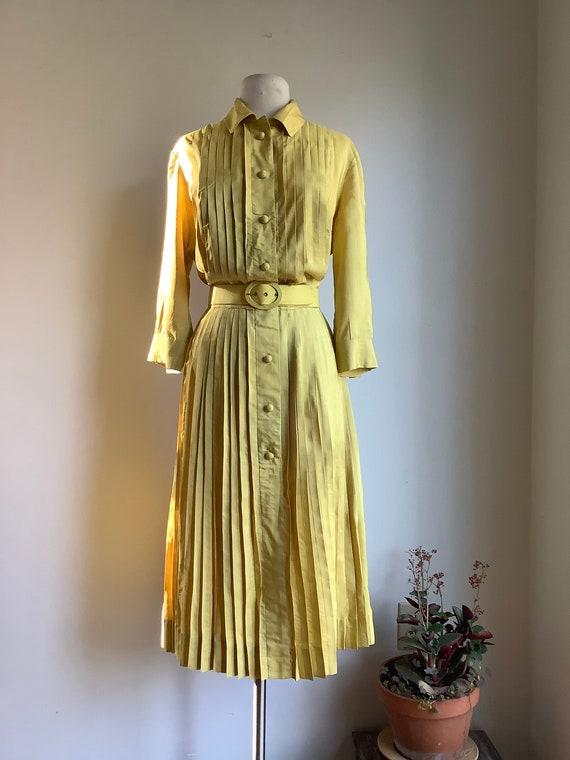 1950s dress - vintage silk dress - 1950s silk dres