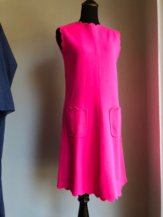 1960s dress - vintage dress - knit dress - vintage