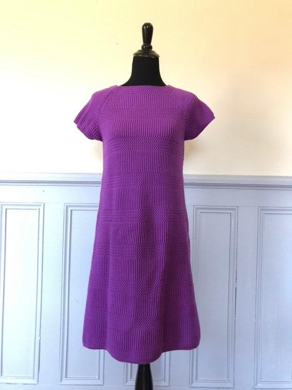 Vintage knit dress - 1960s dress - vintage dress -