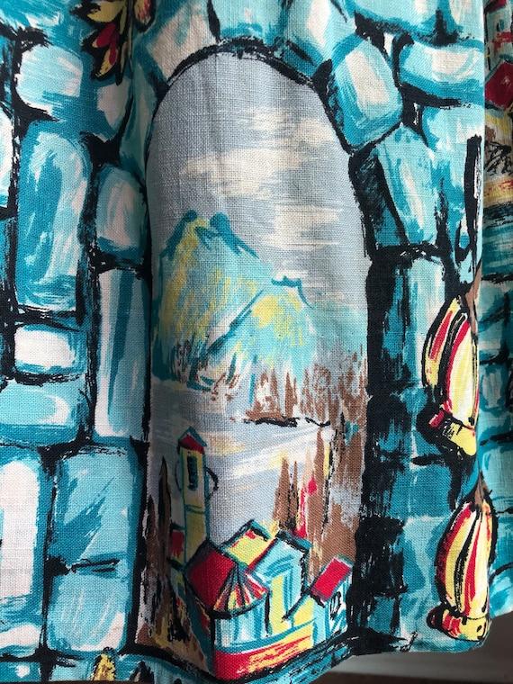 1950s printed skirt - 1950s skirt - vintage skirt… - image 3