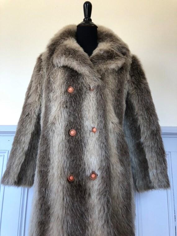 Vintage faux fur jacket - faux fur coat - vintage