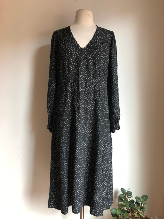 1930s dress - antique dress - silk dress - 1930s s