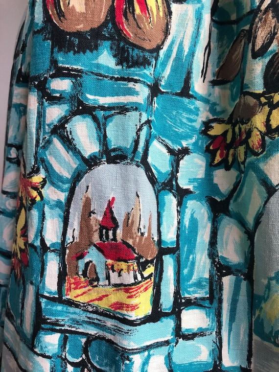 1950s printed skirt - 1950s skirt - vintage skirt… - image 4